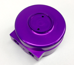 Color anodized parts for medical device and sporting goods manufacturers